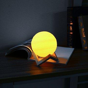 15cm 3D Jupiter Lamp USB Rechargeable Touch Sensor Color Changing LED Night Light Gift DC5V