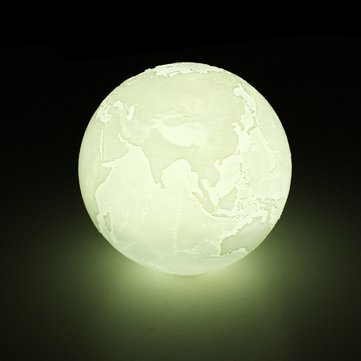 18cm 3D Earth Lamp USB Rechargeable Touch Sensor Color Changing LED Night Light Gift DC5V