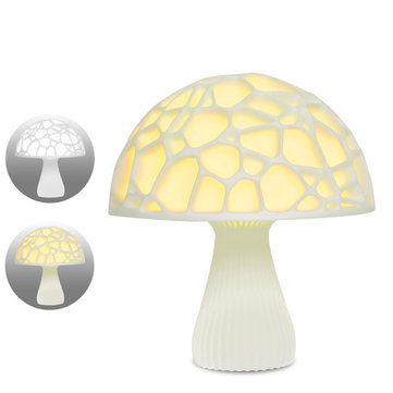 18cm 3D Mushroom Night Light Touch Control 2 Colors USB Rechargeable Table Lamp for Home Decoration