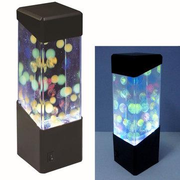 Jelly Ball Water Aquarium Tank LED Lights Lamp Relaxing Bedside Mood Light Decorative Lights