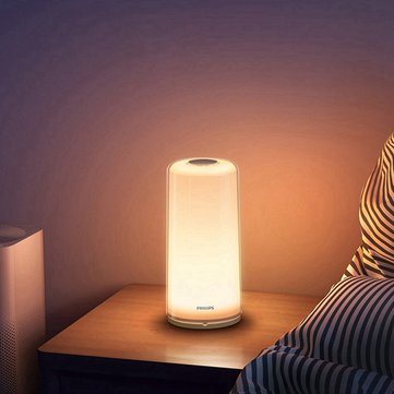 Xiaomi Zhirui Smart LED Bedside Lamp RGBW Dimmable Night Light WiFi bluetooth APP Control AC100-240V