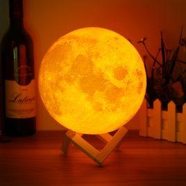 18cm Touch Sensor 3D Moon Table Lamp USB Color Changing LED Luna Night Light Kids Gift