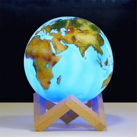 3D Painted Earth Lamp Touch Switch Light Desk Night Home Decor Christmas Gifts