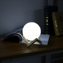 13cm 3D Jupiter Lamp USB Rechargeable Touch Sensor Color Changing LED Night Light Gift  DC5V