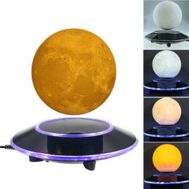 3D Magnetic Levitation Moon Floating Touch Led Night Light Desk Lamp 15cm (01#)