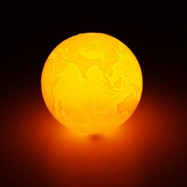 20cm 3D Earth Lamp USB Rechargeable Touch Sensor Color Changing LED Night Light Gift  DC5V